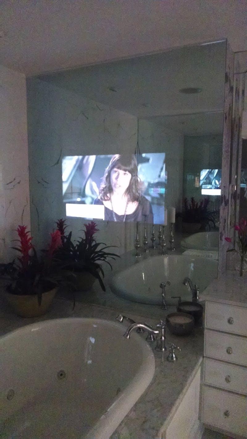 (Edgecliff Point, Walnut Hills) TV Behind Mirror