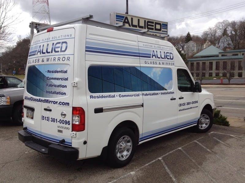 (Allied Glass & Mirror, Cincinnati) Newest Truck (Designed by Sarah)