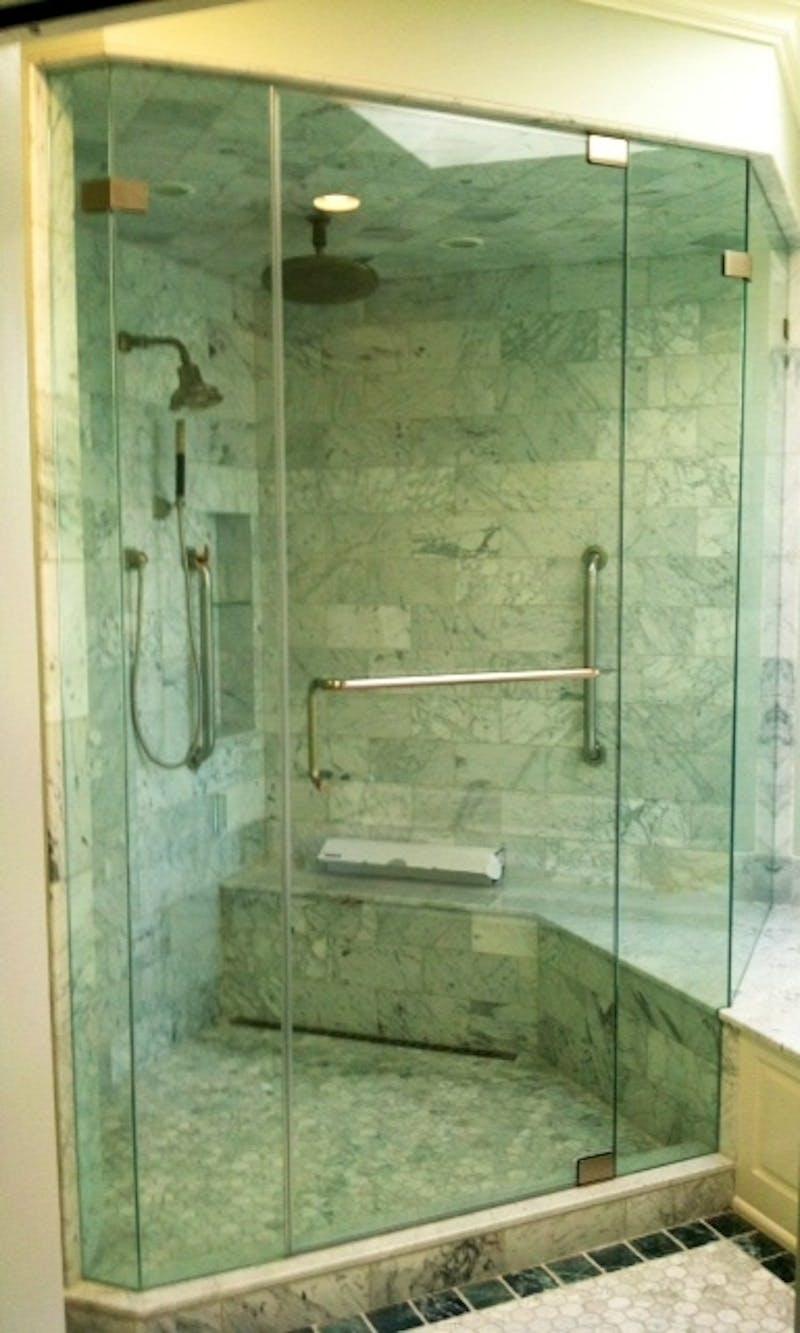 (Bathroom Remodel, Hyde Park) European Shower Installation
