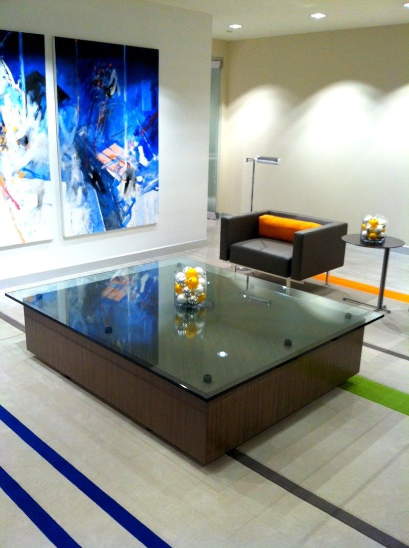 (First National Bank, Cincinnati) Heavy Glass Table Top