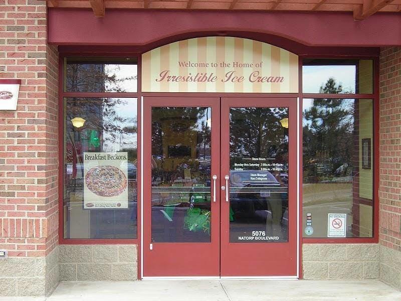 (Graeter's Ice Cream, Mason) Door Repair and Glass Replacement