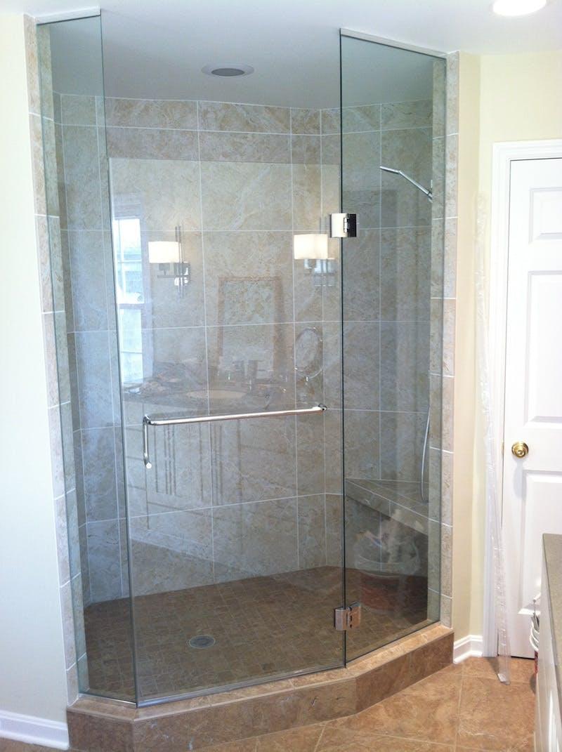 (Bathroom Remodel, Anderson Township) European Shower Installation