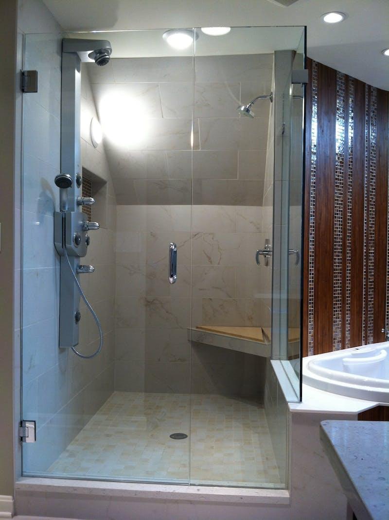 (Bathroom Remodel, Indian Hill) European Shower Installation