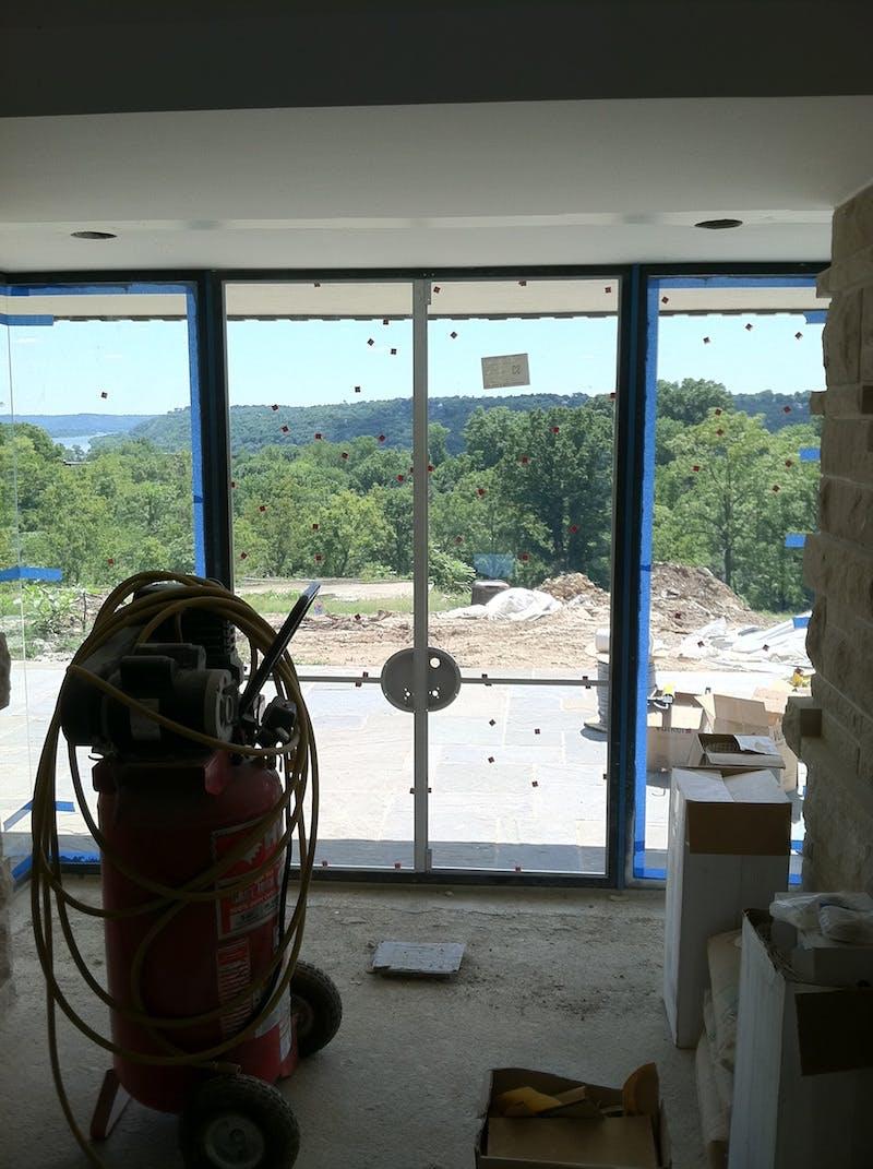 (Franklin Lloyd Wright, Hyde Park) River View Windows