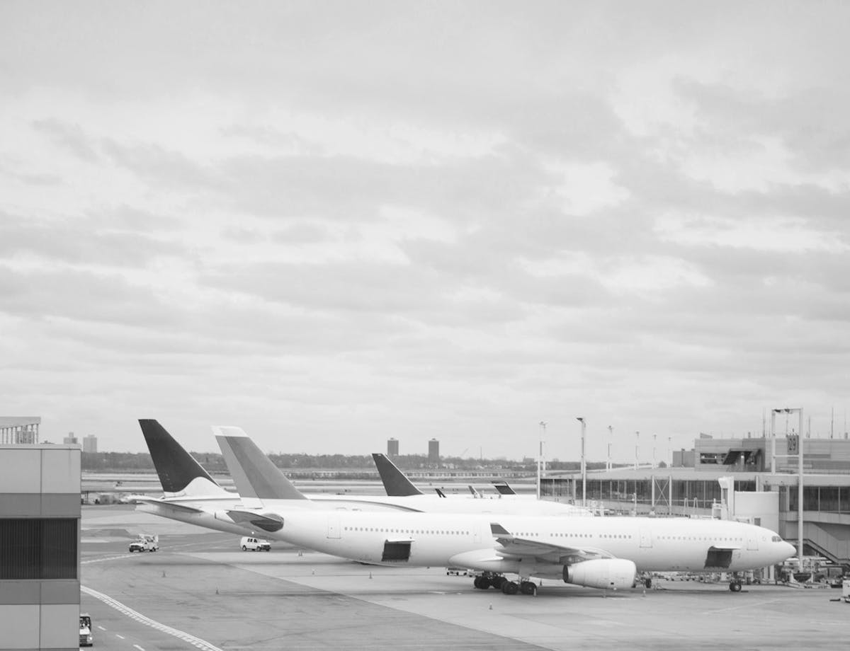 airplanes on tarmac