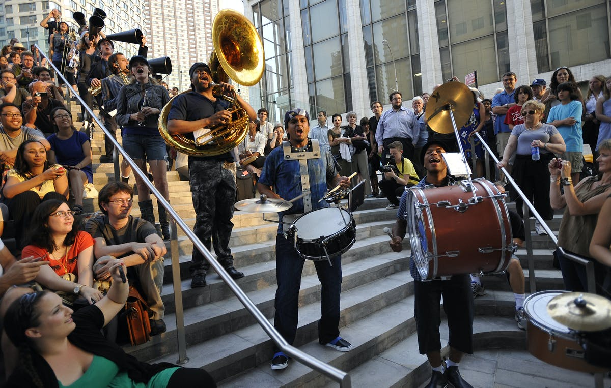 Red Baraat PLUS, a 30-piece ensemble led by Sunny Jain