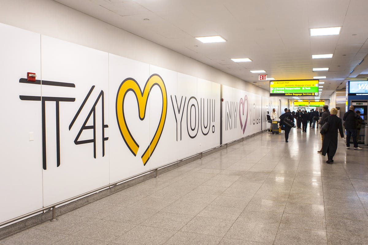 JFK terminal 4 wall art
