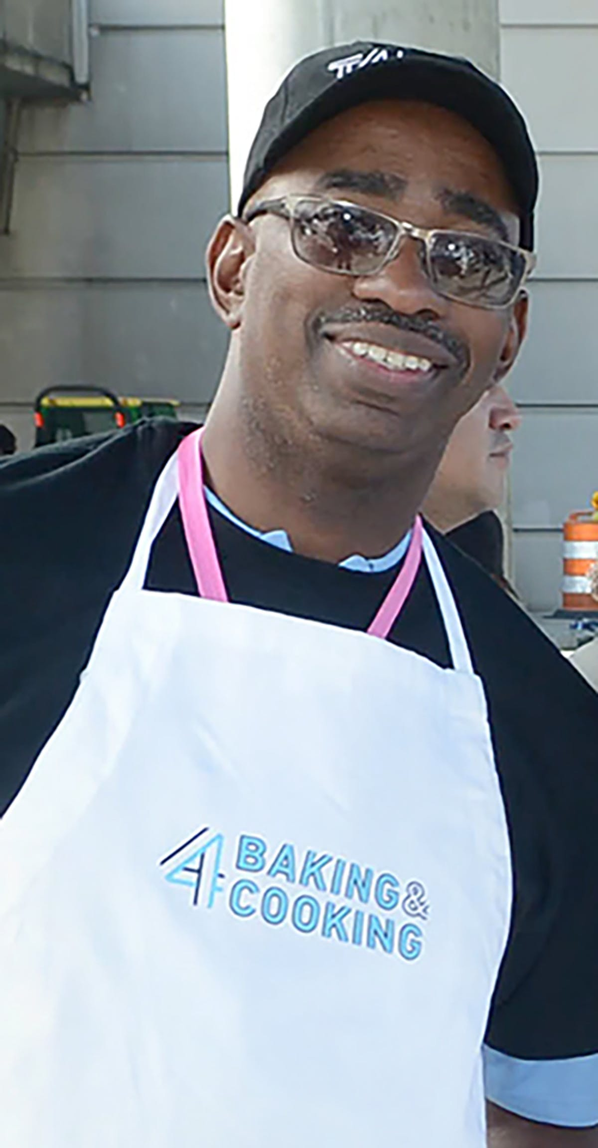 man wearing apron