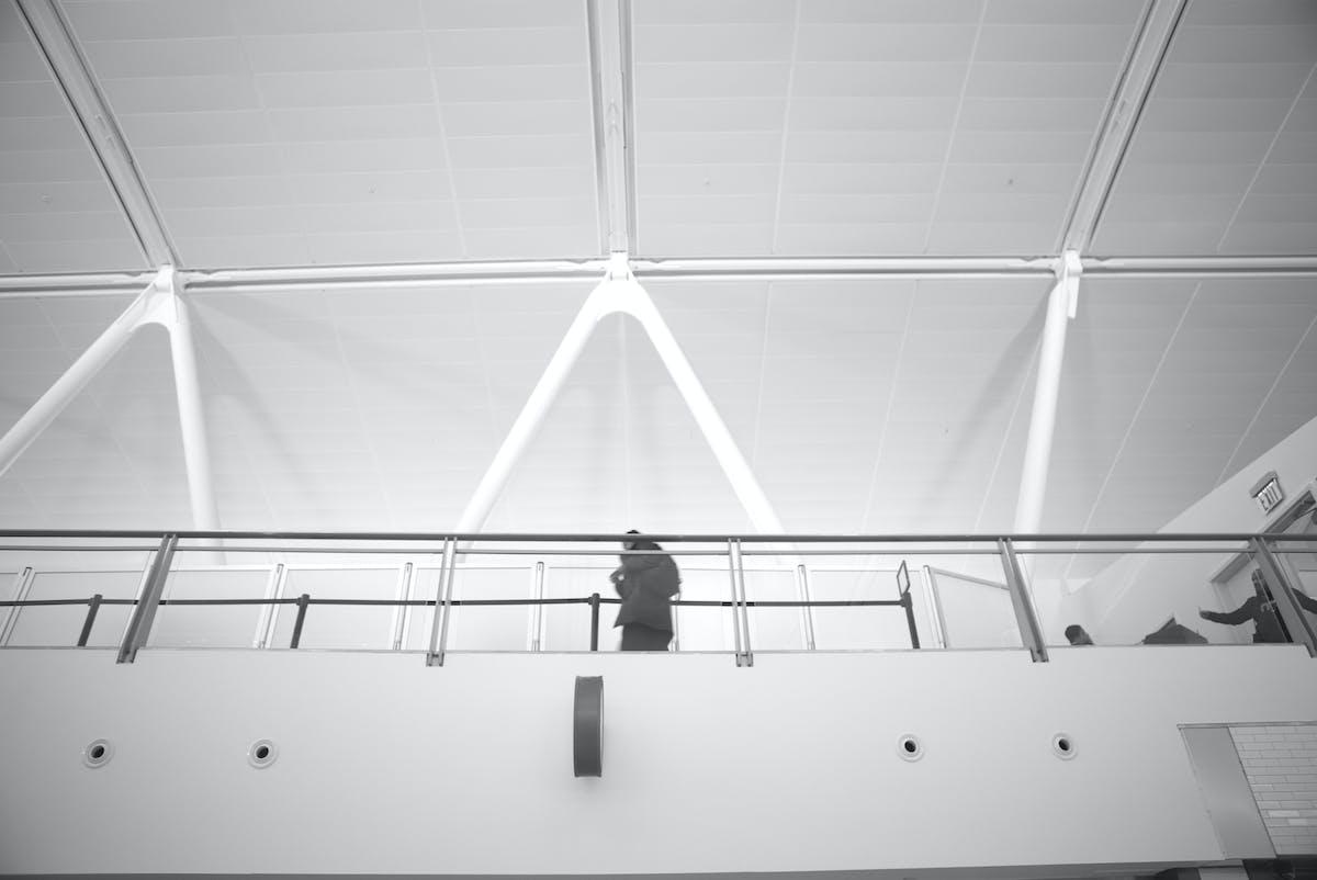 railing inside JFK terminal 4