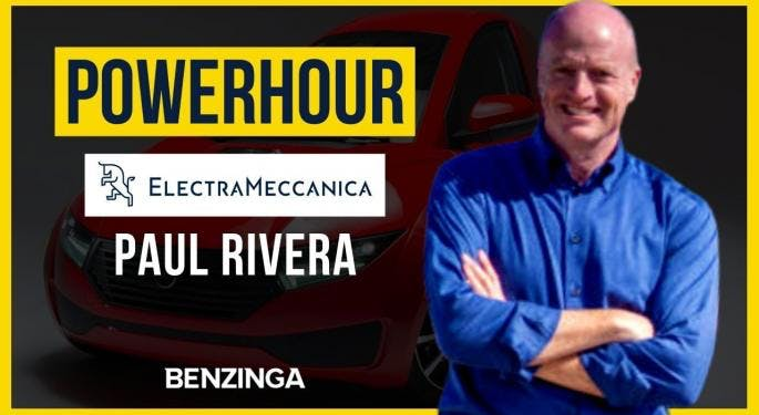 Power Hour: Electrameccanica CEO Paul Rivera Talks Partnership Potential, Vehicle Production On 'Power Hour'