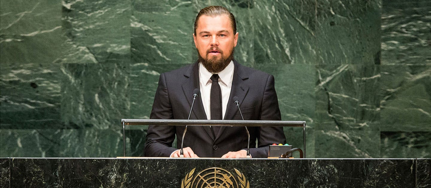 Leonardo delivers landmark speech at the United Nations climate summit