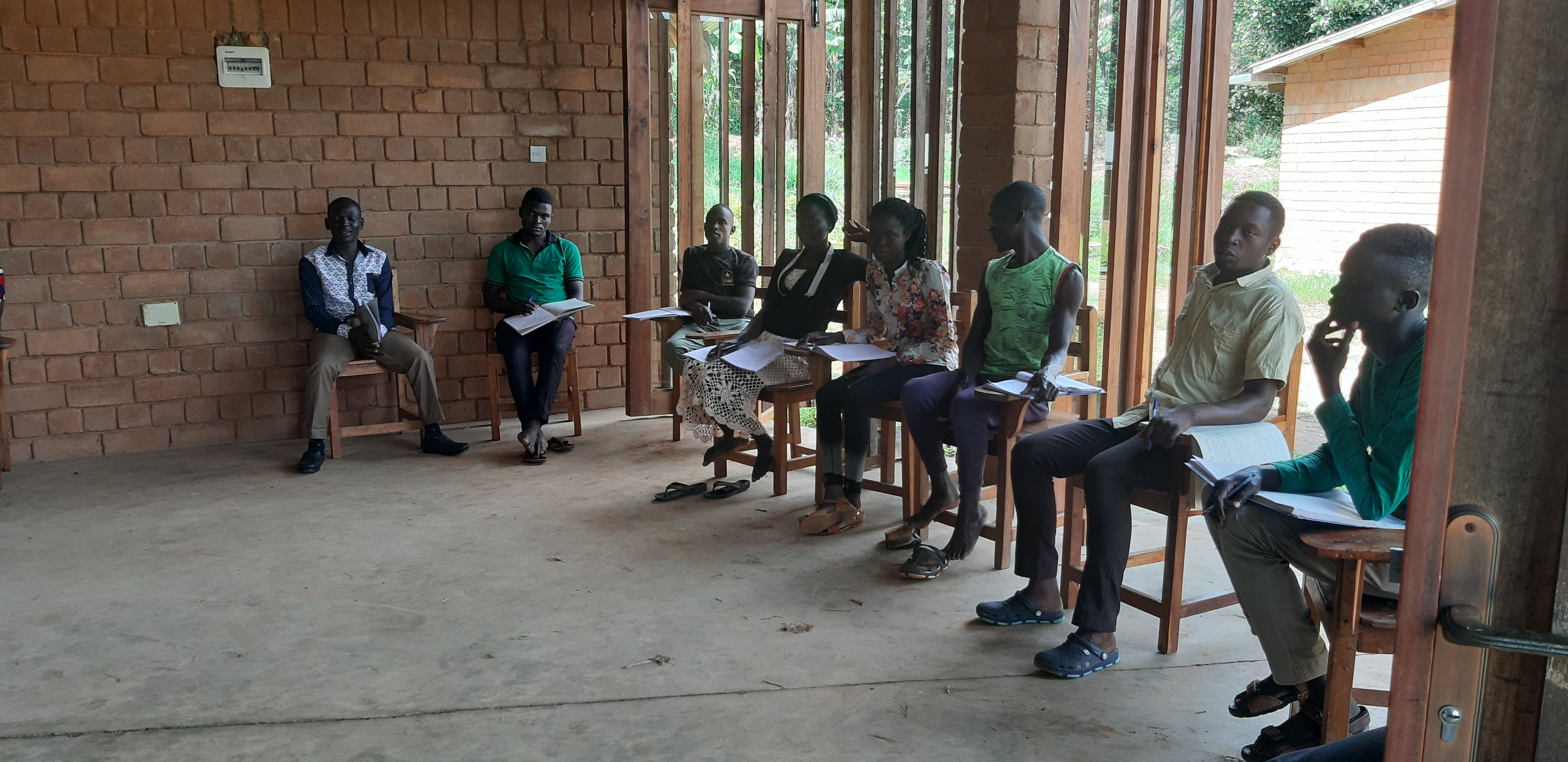 Students at the Rural Organic Agricultural Training College in Uganda