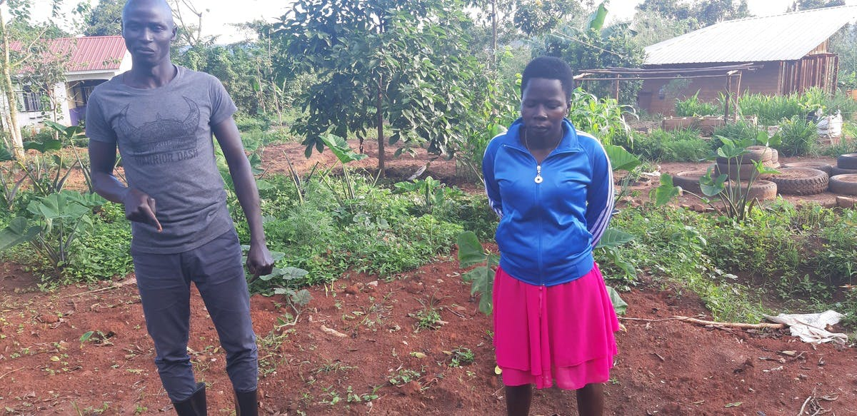 Kanjor and Sida, students at the Rural Organic Agricultural Training College (RUCID) in Uganda