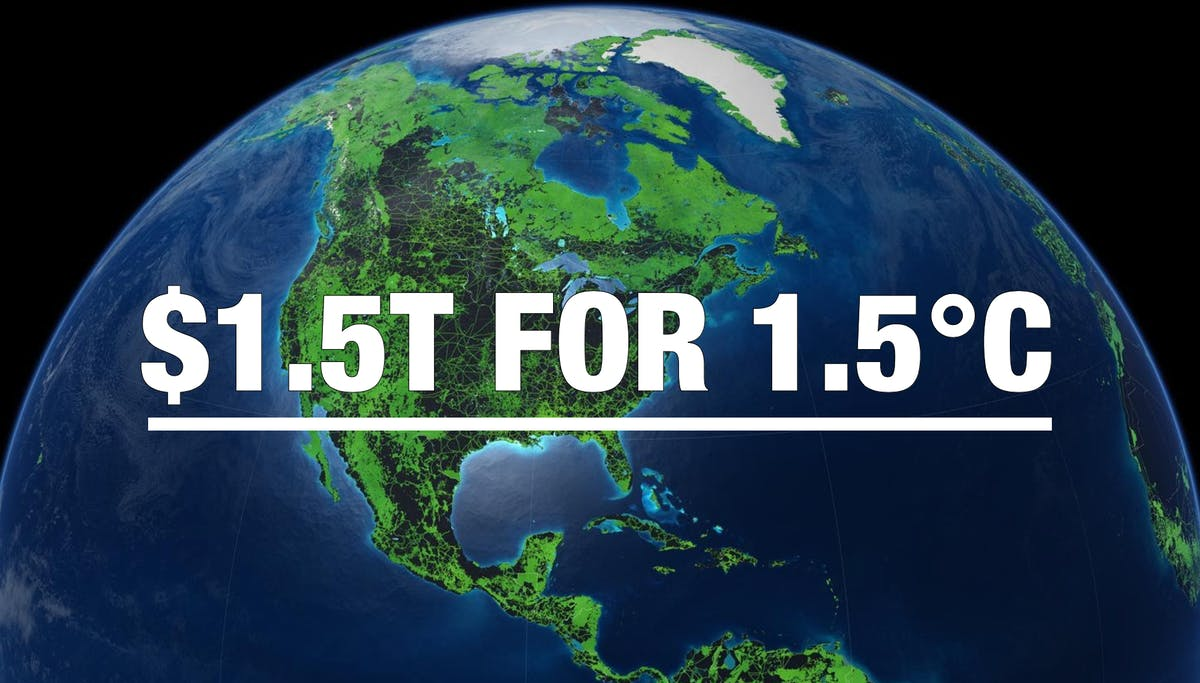 $1.5T for 1.5°C: a 'back of envelope' budget to save the planet
