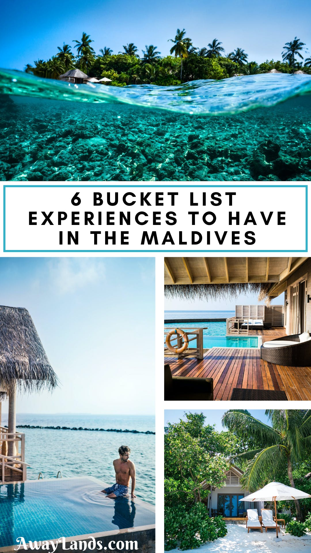 Check out this list of 6 bucket list experiences to have in the Maldives. From relaxing in your overwater bungalow to enjoy all of the water activities in the Maldives, find something to add to your Maldives bucket list here. #maldives #bucketlist #travel | best things to do in the Maldives | things to do in the Maldives honeymoon | things to do in the Maldives bucket lists | Maldives travel bucket lists | Maldives bucket list travel | Maldives things to do bucket lists
