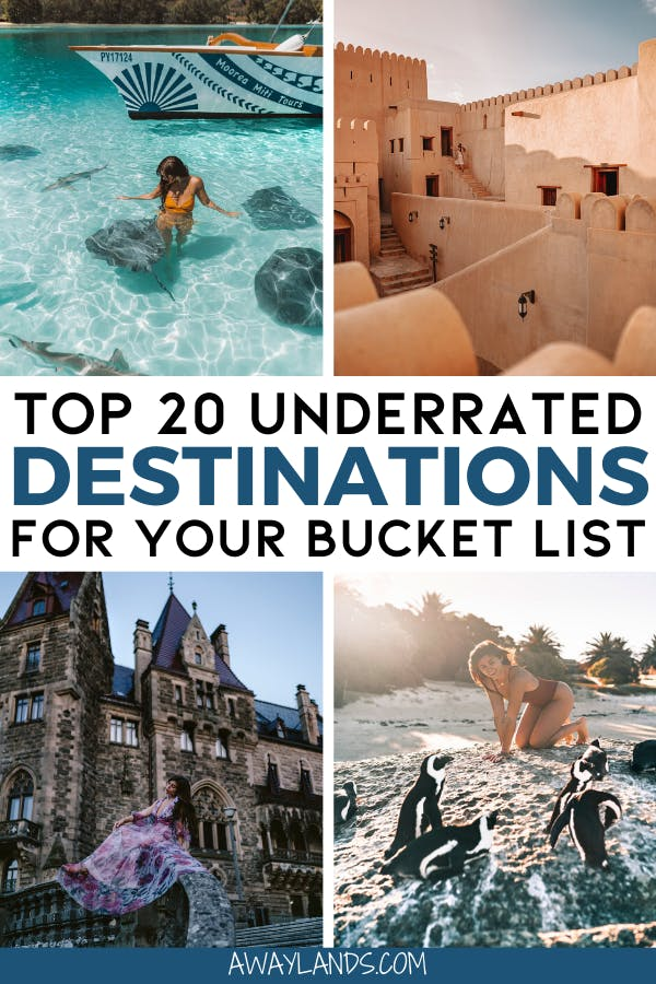 Check out this list of the top 20 underrated travel destinations you need on your travel bucket list! #bucketlist #travel | once in a lifetime destinations | bucket list destinations | bucket list travel | best places to visit | most beautiful destinations in the world | off the beaten path destinations | bucket list before I die | travel bucket list United States | Africa travel bucket list | bucket list Europe travel | island travel destinations | best places to go | travel destinations