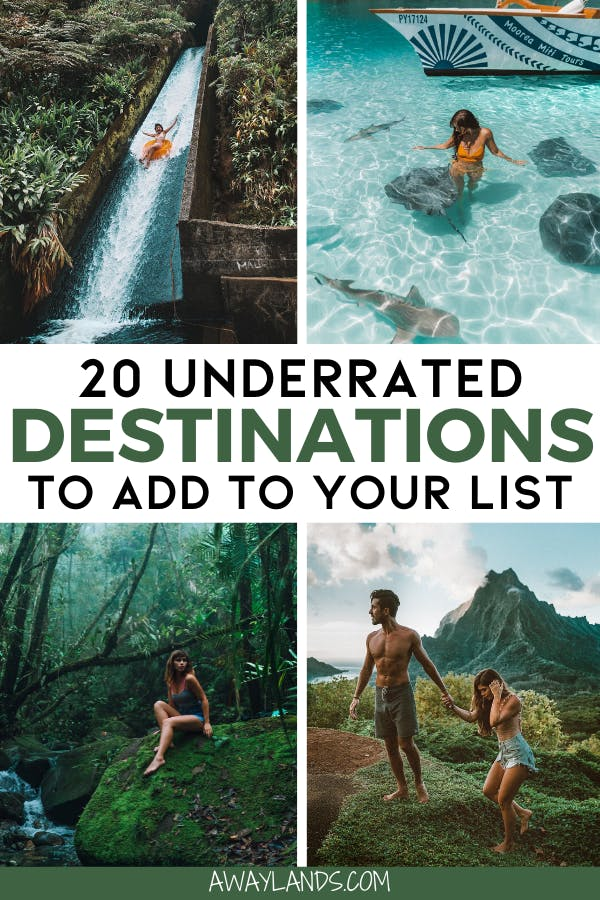 Check out this list of the top 20 underrated travel destinations you need on your travel bucket list! #bucketlist #travel | once in a lifetime destinations | bucket list destinations | most beautiful destinations in the world | off the beaten path destinations | bucket list before I die | best places to go | travel destinations | travel after lockdown ideas | couples travel destinations | honeymoon travel destinations | couples travel bucket list | bucket list ideas for couples travel