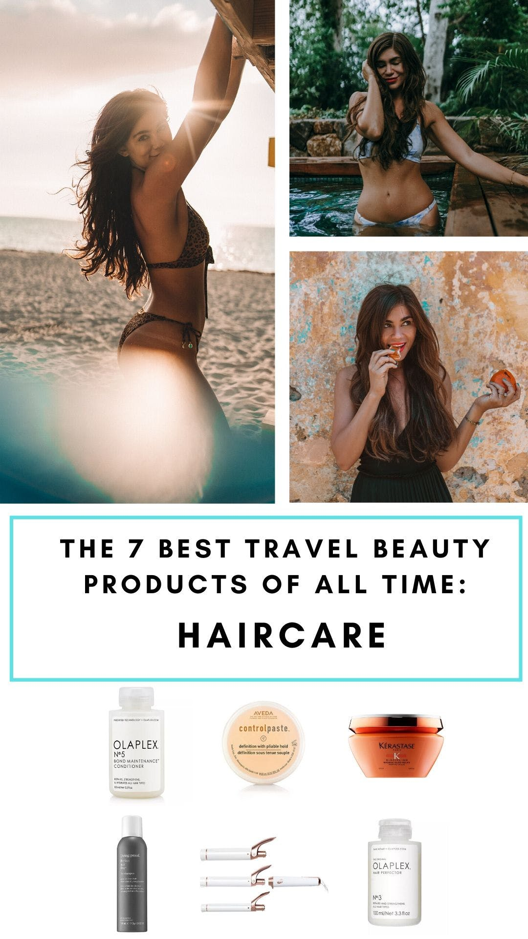 After years of travel, these are the best hair products for travelers to keep your hair healthy while traveling. #travel #haircare #hairproducts   hair care products for travel   best hair care products   must have hair care products   top hair care products   hair care products long hair   hair products long hair   best hair products   hair products silky   hair products lush   travel hair products   travel hair tools   travel hair tips   travel hair ideas   travel beauty products