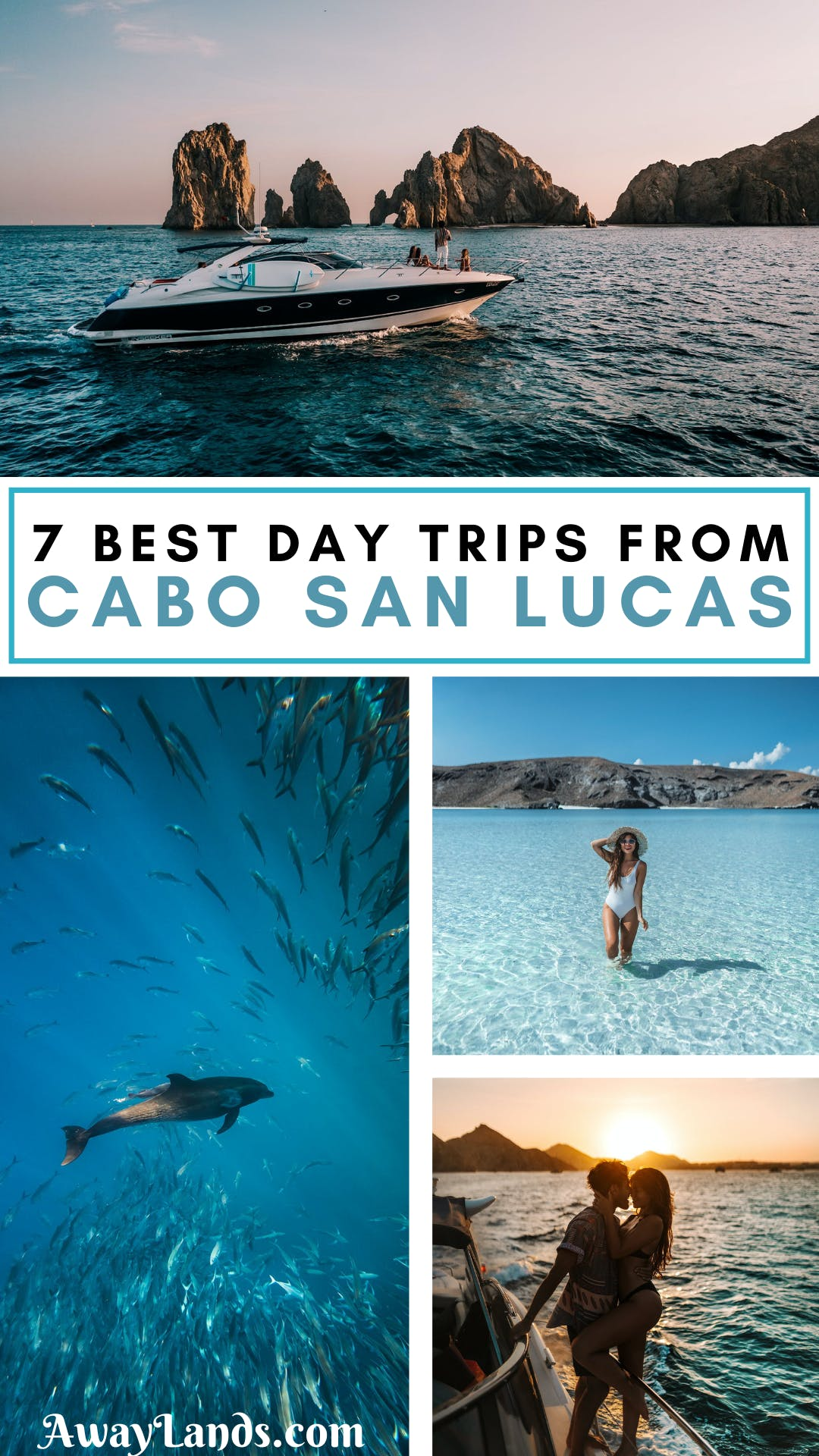 Looking for adventures, culture, and unbeatable nature on your Los Cabos trip? Cabo is known for luxury beach-front resorts, but take some excursions from Todos Santos to La Paz, historical cities, amazing surf beaches, crystal clear waters and canyon waterfalls - here's the best day trips from Cabo! #cabosanlucas | day trips from Cabo San Lucas | best excursions in Cabo San Lucas | best things to do near Cabo San Lucas | Cabo day trips | day trips from Cabo | Baja California things to do