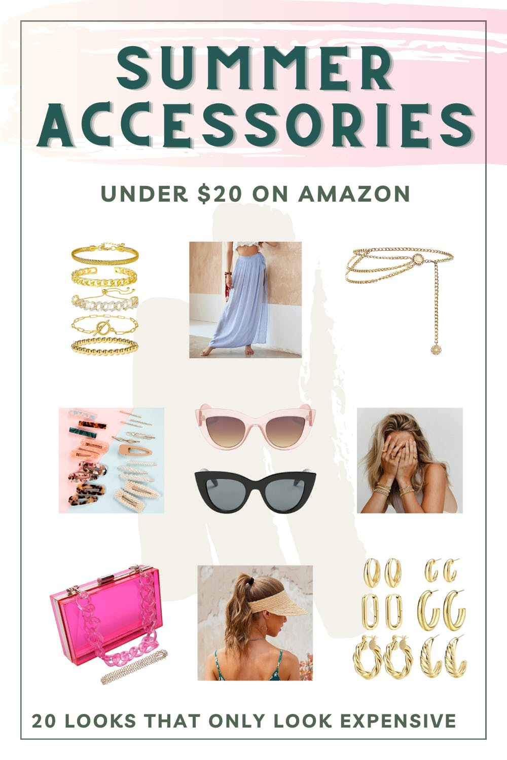 These summer accessories are all under $20 even though they look expensive. From summer jewelry to summer hair accessories, you'll find lots of options for affordable summer accessories in these Amazon finds. These Amazon must haves will level up your summer travel photos.   Amazon must have accessories   amazon accessories must have   amazon summer must haves   amazon must haves for summer   womens summer accessories   summer accessories jewelry   amazon must haves tiktok videos cheap