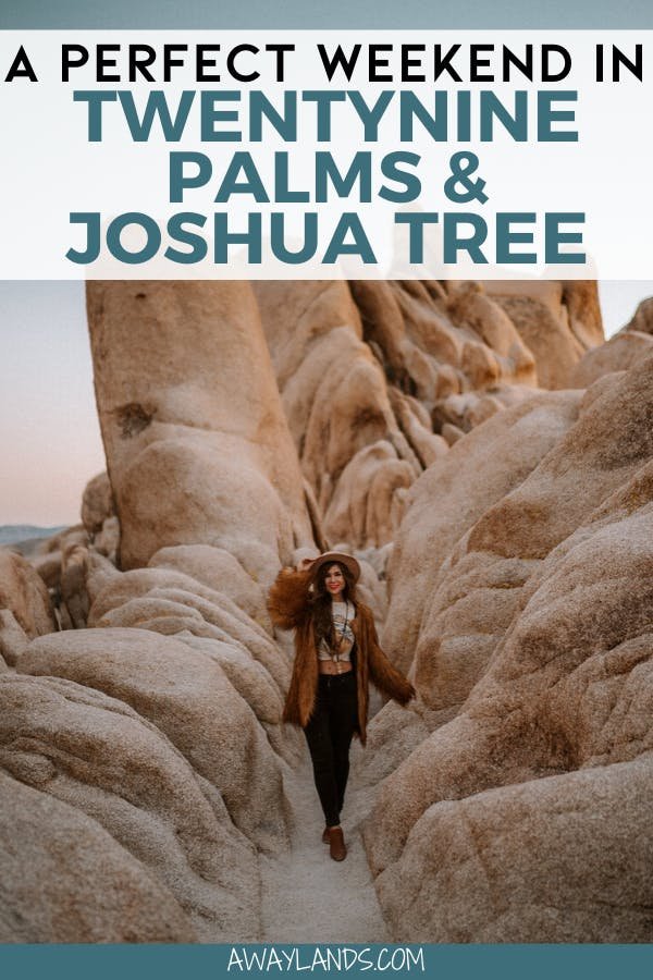 Looking for a weekend getaway in California? Click here for a weekend guide to Joshua Tree National Park and TwentyNine Palms, California. #california #joshuatree | Twenty Nine Palms California | weekend getaways California | weekend getaways USA | Joshua Tree National Park | Joshua Tree weekend | Joshua Tree itinerary | Joshua Tree things to do in | Joshua Tree photoshoot | Joshua Tree airbnb | Joshua Tree style | Joshua Tree Instagram | California weekend getaways | California weekend trips