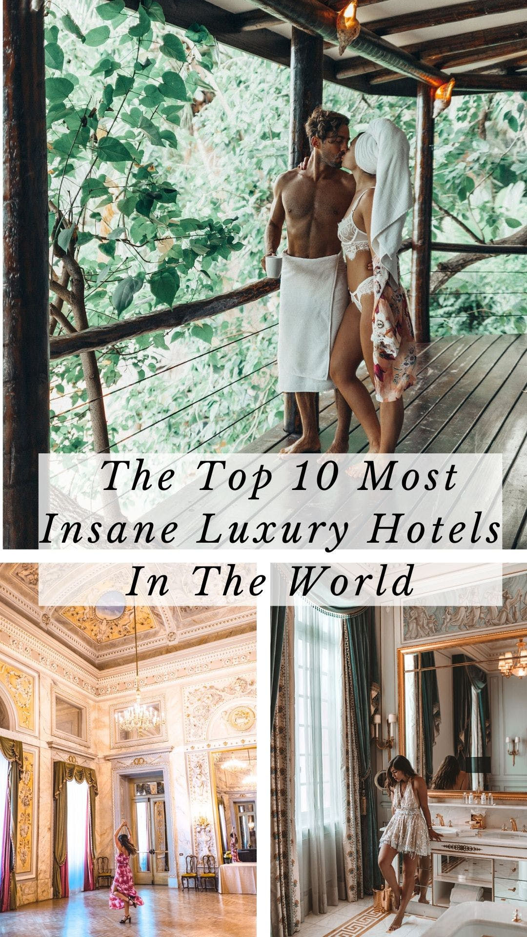 After traveling the world for the last few years, these are the top 10 luxury hotels in the world to add to your bucket list. Click here for all the details and inspiration! #travel #luxurytravel #luxuryhotels #luxurylifestyle   best luxury hotels in the world   luxury hotels interior   luxury hotels Europe   luxury hotels beach   luxury hotels city   luxury hotels around the world   luxury travel destinations   luxury travel lifestyle   luxury travel hotel   luxury travel beautiful places