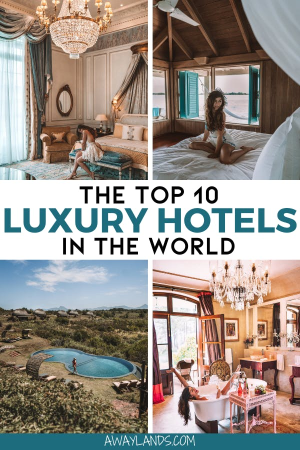 After traveling the world for the last few years, these are the top 10 luxury hotels in the world to add to your bucket list. Click here for all the details and inspiration! #travel #luxurytravel #luxuryhotels #luxurylifestyle | best luxury hotels in the world | luxury hotels interior | luxury hotels Europe | luxury hotels beach | luxury hotels city | luxury hotels around the world | luxury travel destinations | luxury travel lifestyle | luxury travel hotel | luxury travel beautiful places