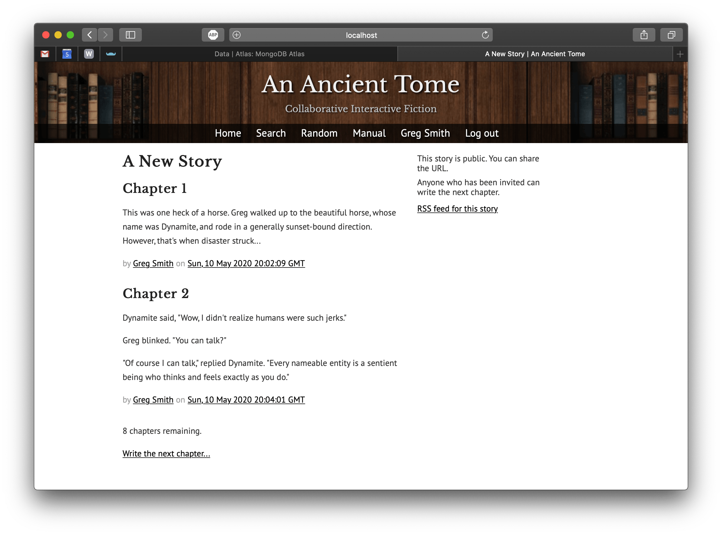 Story Page