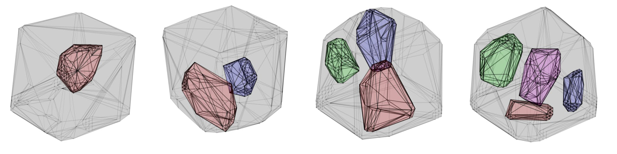 Different examples of three dimensional (3D) place fields from rats.