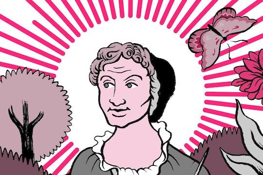 Illustration of Maria Sibylla Merian from Massive Science Tarot deck