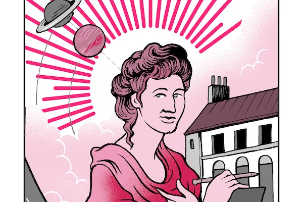 A painting of the astronomer Maria Kirch, in an article about facts about her life