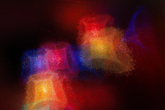 colorful abstract pixel art