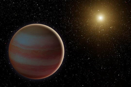 Artist's impression of a brown dwarf star with the Sun in the distance