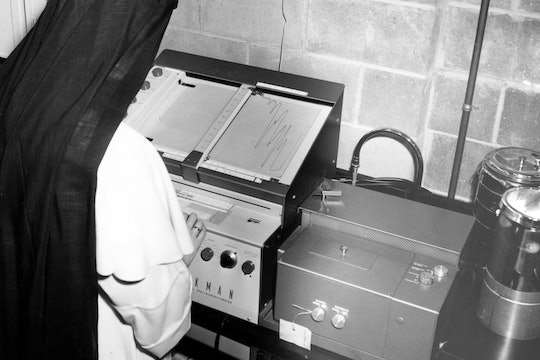 Sister Miriam Michael Stimson working in the lab