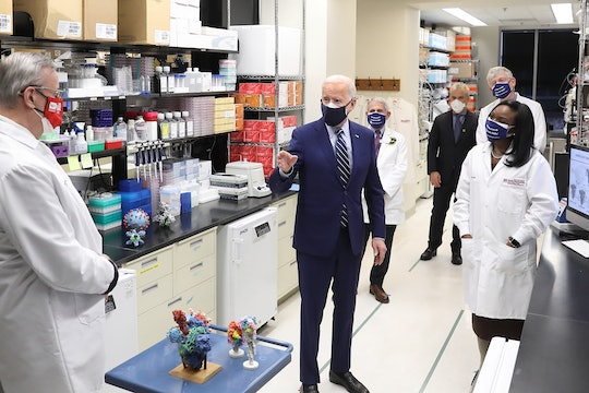 President Joe Biden visited NIH on February 11, 2020, where he met with leading researchers at the (COVID-19) Vaccine Research Center.