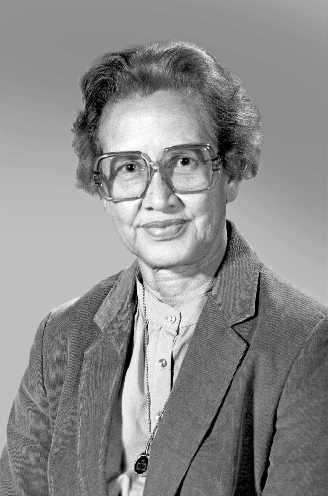 A portrait of Katherine Johnson, 1980.