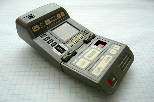 green electronic tricorder