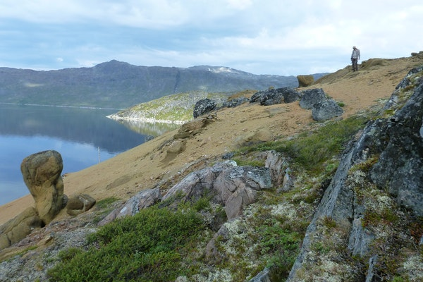 Lead author, geologist Chris Yakymchuk working in the field in west Greenland.