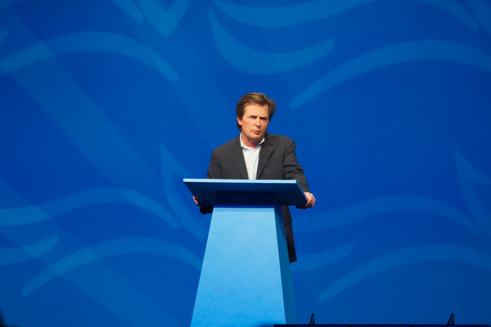 Michael J Fox on stage