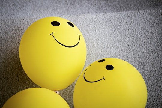 Balloons with happy faces