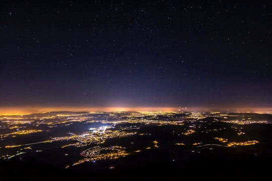 artificial light at night as seen from the sky