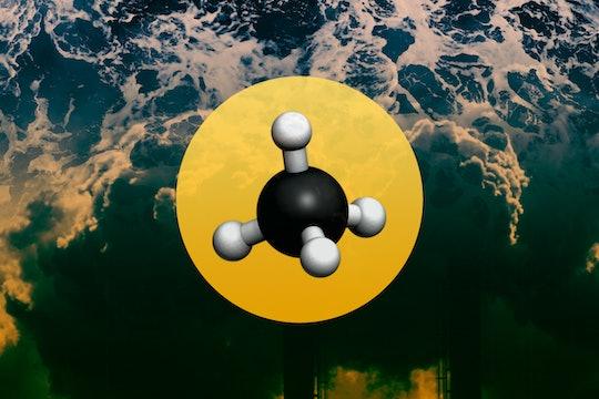 methane molecule collage