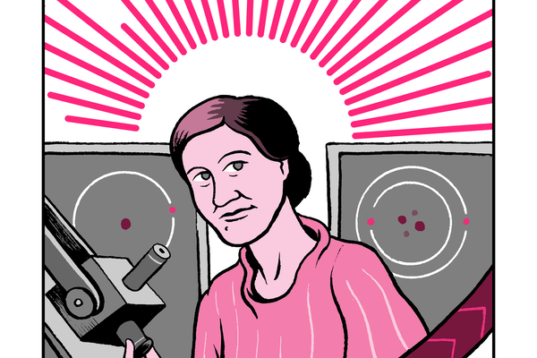 A portrait of the astronomer Cecila Payne-Gaposchkin
