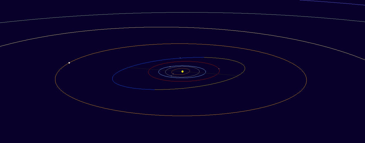 Earth is surrounded by minor planets much closer than Pluto -- look no further than the Asteroid Belt