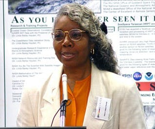 valerie thomas giving a lecture in 2003