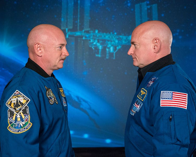 twins Mark and Scott Kelly