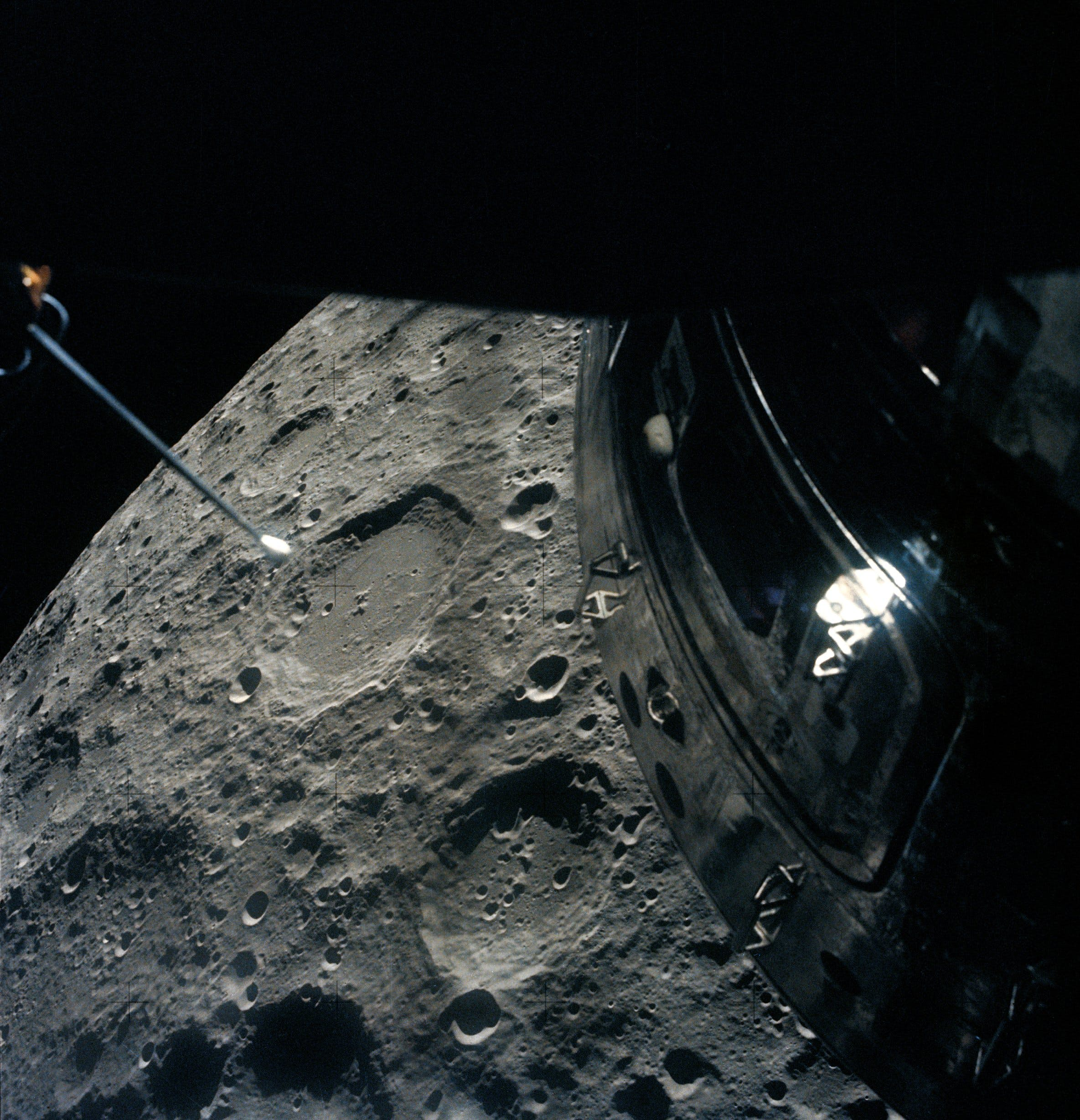 Moon, as seen by the Apollo 13 crew