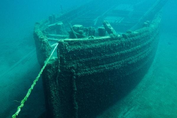 a ship underwater
