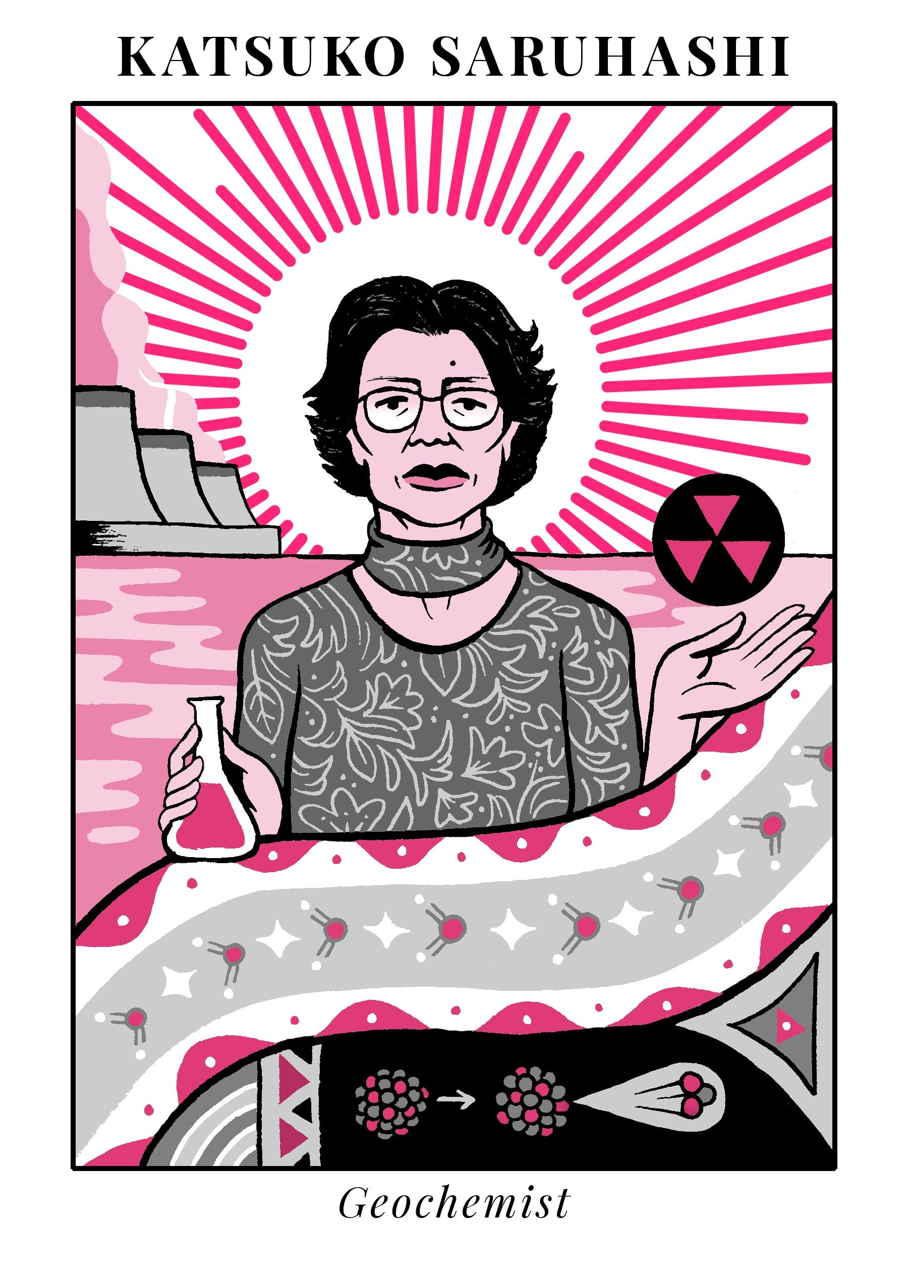illustration of Katsuko Saruhashi