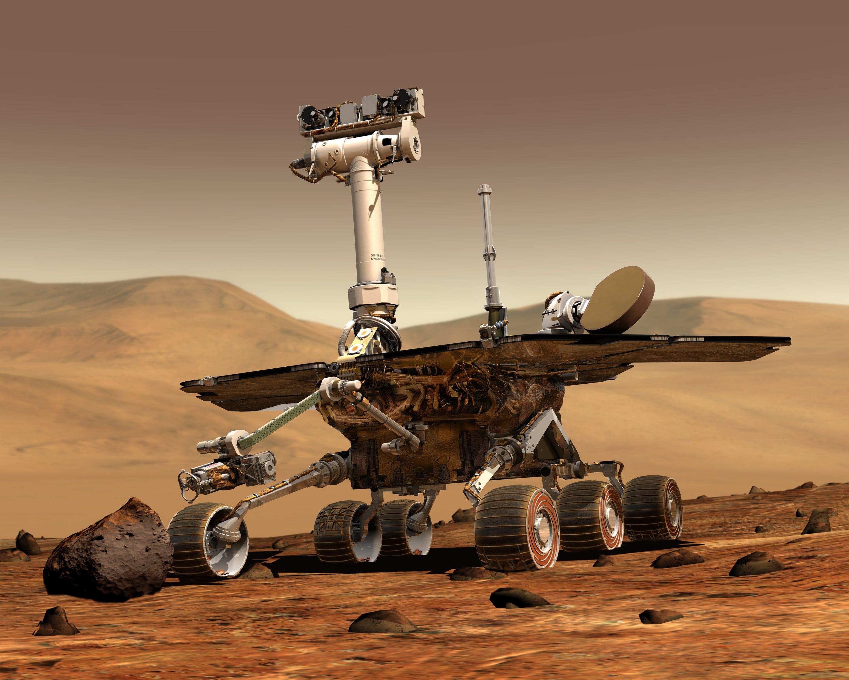 The NASA Mars Rover.